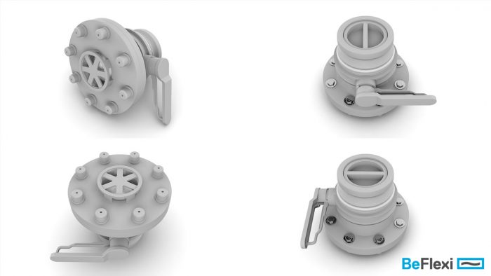 3d models of hose valves rendered in many angles created for a product marketing campaign for our client beflexi in Cyprus