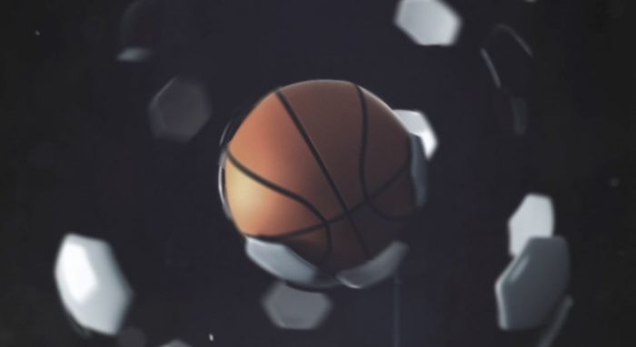 3d model of a basketball transforming into a football produced and animated for cytavision's sports channel advert in Cyprus