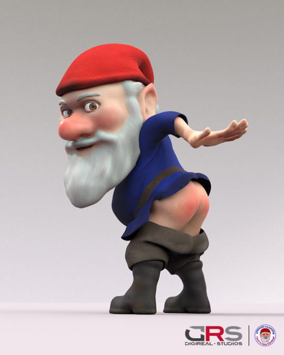 3d model of a gnome created in zbrush & maya by a student in our 3d modeling, game design & 3d animation courses in Cyprus