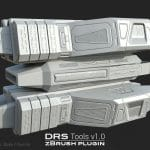 Sample image 2 of DRS Tools zBrush plugin for creating automatic cages for 3d models in 1 click